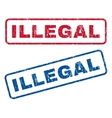 Illegal Rubber Stamps vector image vector image
