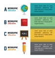 infographic education school graphic vector image