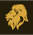 lion animal portrait emblem vector image vector image