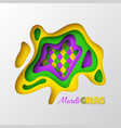 mardi gras abstract carnival design vector image