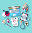 Medical workplace vector image