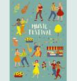 music festival invitation card template vector image vector image