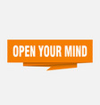 open your mind vector image vector image