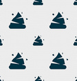 Poo icon sign Seamless pattern with geometric vector image vector image