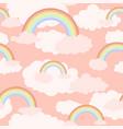 rainbow pink pattern vector image