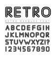 Retro marquee font vector image vector image