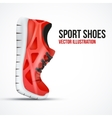 Running curved red shoes Bright Sport sneakers vector image vector image