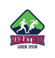 running race people marathon sport and activity vector image vector image
