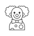 scary clown or joker halloween character icon vector image