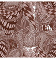 Seamless abstract pattern in shades brown vector image
