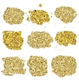 Set of glitter golden blots vector image