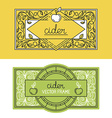 set of packaging design templates vector image vector image