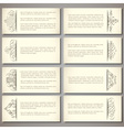set paper banners vector image vector image