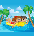 summer water activity theme 4 vector image vector image