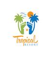 tropical resort design template vector image