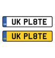 uk number plate vector image vector image