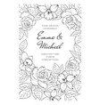 vintage spring summer wedding marriage event vector image