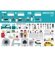 Medical Big Collection in flat design background vector image