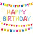 Happy Birthday funny greeting card vector image