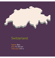 3d map of Switzerland vector image vector image