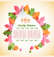 abstract autumn poster vector image vector image