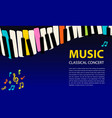 abstract music background rainbow piano keys vector image vector image