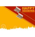 arrow of rama in happy dussehra festival of india vector image