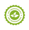 biodegradable plastic free icon - compostable vector image vector image