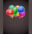 birthday balloons soaring vector image vector image