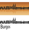 Burgos skyline in orange vector image vector image