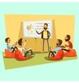 business meeting cartoon vector image vector image