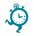 cartoon clock running flat vector image