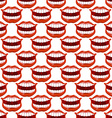 Cheerful smile lip seamless pattern Red lips and vector image vector image