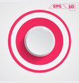 circle button icon vector image