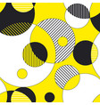 circles and stripes seamless pattern vector image