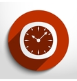 clock web icon vector image