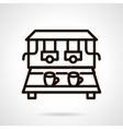 Coffee machine black line design icon vector image