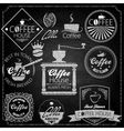 coffee set elements chalkboard vector image vector image
