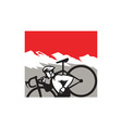 Cyclocross Athlete Running Carrying Bike Alps vector image vector image