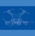 drone concept rendering of 3d vector image vector image