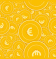 european union euro coins seamless pattern vector image