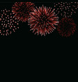 firework sparkle background card beautiful bright vector image vector image