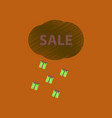 flat shading style icon sale gift rain vector image vector image