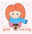 funny cute girl characters love cartoon vector image vector image