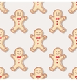 Hand drawn christmas gingerbread man cookies vector image