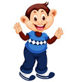happy monkey cartoon character vector image vector image