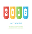 Happy New Year 2016 colorful card vector image
