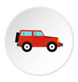 jeep icon circle vector image vector image