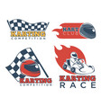 karting race club and competition promotional vector image vector image