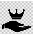 King crown sign Flat style icon vector image vector image